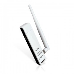 TP-LINK WN722N WIRELESS LITE N HIGH GAIN USB ADAPTER,ATHEROS CHIPSET 1T1R 1 DETACHABLE ANTENNA